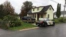 Cape Breton Regional Police investigate a suspicious death at a home in North Sydney, N.S., on Sept. 3, 2020. (Kyle Moore/CTV Atlantic)