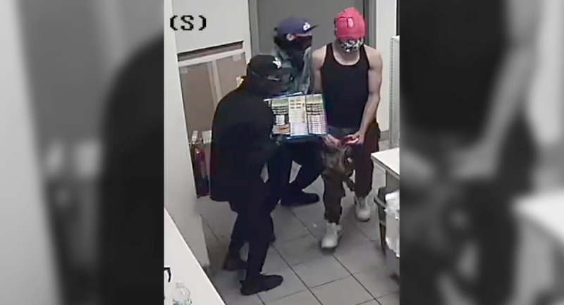 Woodstock police released this photo of three suspects they are searching for in connection with a robbery on Wednesday, Sept. 2, 2020.