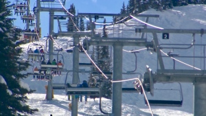 Health experts are worried that ski resorts in Alberta and B.C., such as Sunshine Village in Banff, have few rules in place to limit the number of people on hills. (File)