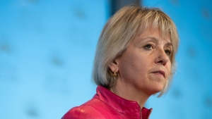 British Columbia provincial health officer Dr. Bonnie Henry provides an update on the coronavirus in the province, during a news conference in Vancouver, on Wednesday, March 18, 2020. THE CANADIAN PRESS/Darryl Dyck