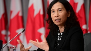 Chief Public Health Officer Dr. Theresa Tam holds a press conference on Parliament Hill in Ottawa, Friday, Sept. 4, 2020. THE CANADIAN PRESS/Sean Kilpatrick