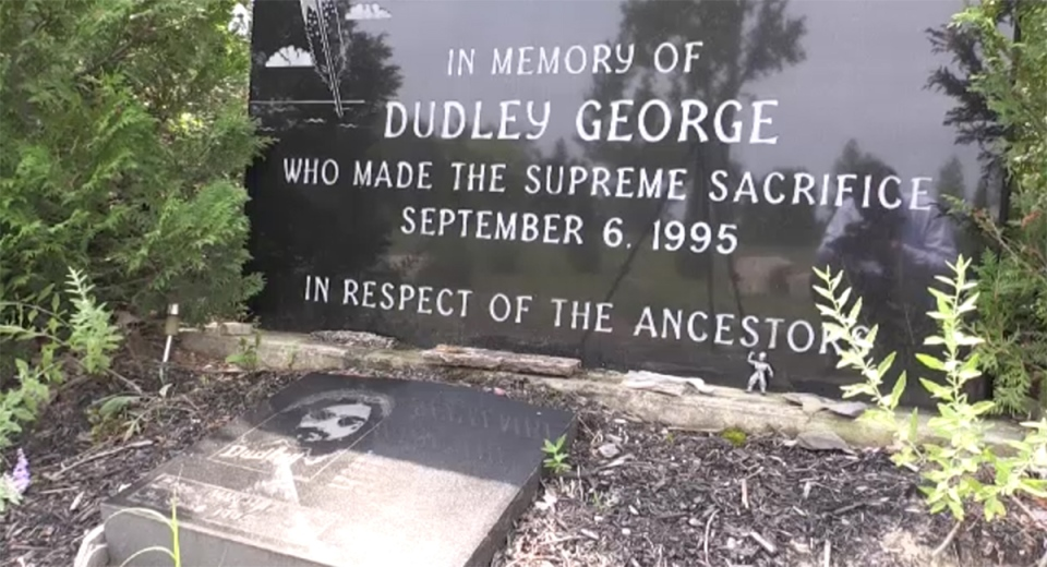 Dudley George memorial