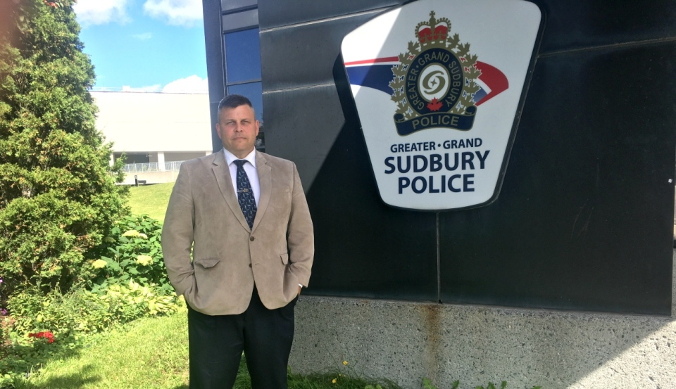 Det. Insp. John Valtonen of the Greater Sudbury Police Service said a lab found on the property contained some dangerous substances. (Alana Everson/CTV News)