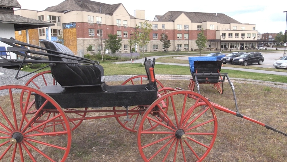 The carriage and sled have had multiple owners over the years. Its final stop before arriving at the home was with a couple living on Manitoulin Island. Sept. 5/20 (Eric Taschner/CTV News Northern Ontario)