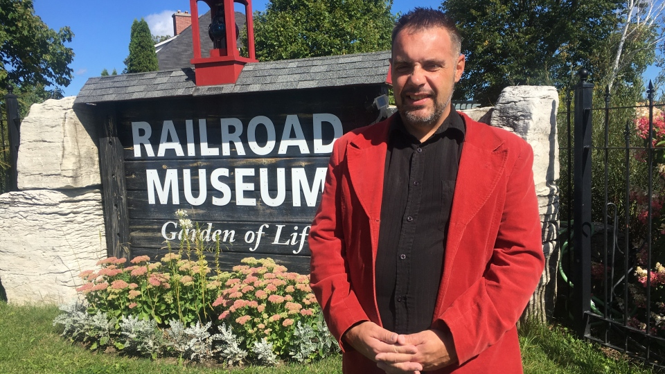 Executive Director, Derek Young, in front of the museum in Capreol says