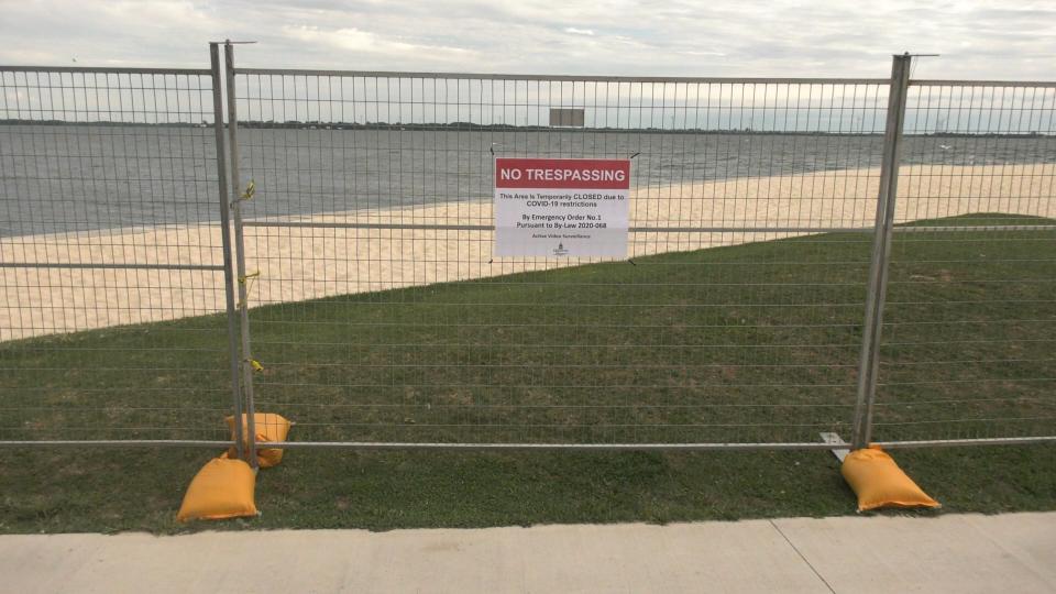 No trespassing Breakwater Park