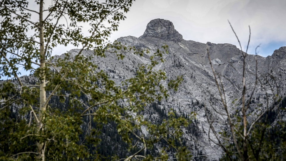 The feature, which has been known since the 1920s as Squaw's Tit, is located near the summit on Mount Charles Stewart and can be seen from the mountain town of Canmore. THE CANADIAN PRESS/Jeff McIntosh