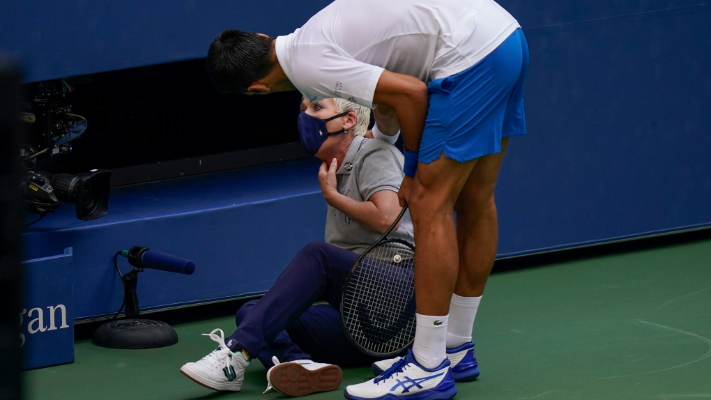 Djokovic Out Of U S Open After Hitting Line Judge With Ball Ctv News
