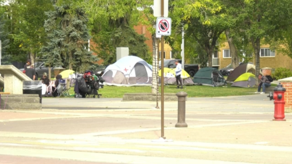 A second homeless camp has sprung up in the Old Strathcona area.