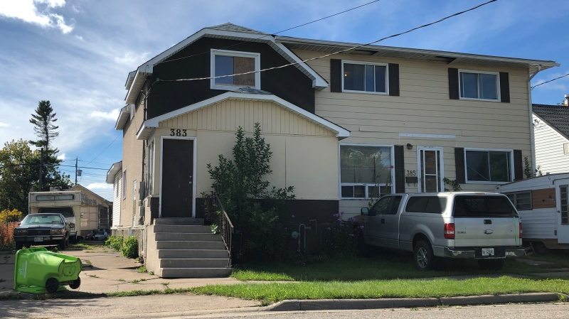 The Integrated Municipal Enforcement Team (IMET) recently executed its first operation at 383 1st Ave. Sept. 6/20 (Christian D'Avino/CTV News Northern Ontario)