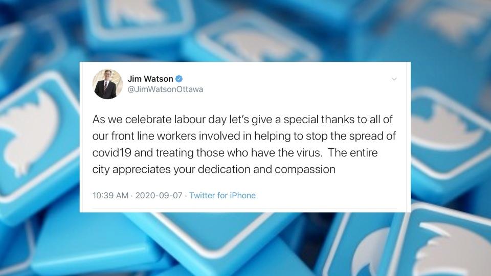 Jim Watson Labour Day Tweet