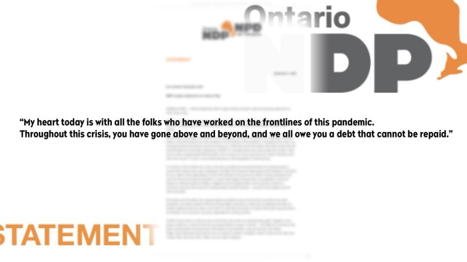 Andrea Horwath Labour Day statement
