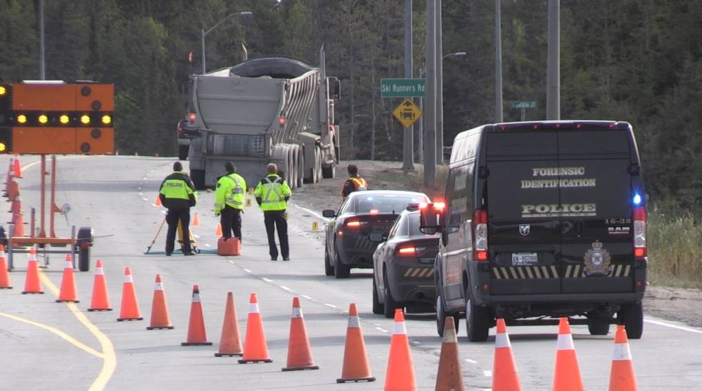 Timmins investigators at scene of crash on Hwy 101