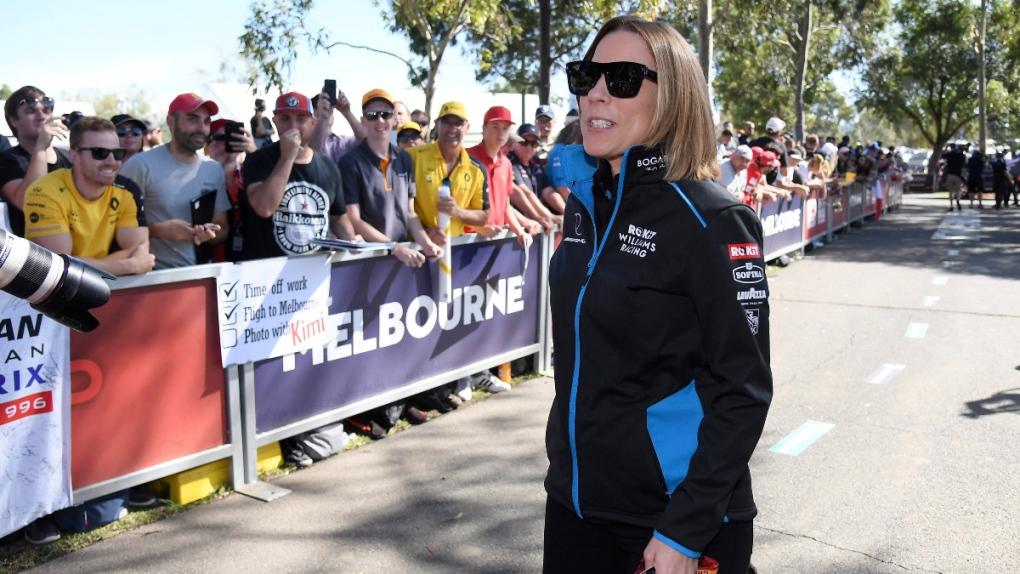 Claire Williams at the Australian Grand Prix