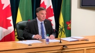 Minister of Education Gordon Wyant is pictured here on Sept. 8, 2020, the first day of school in Saskatchewan. (Wayne Mantyka, CTV News Regina)
