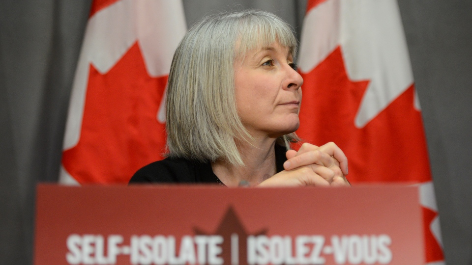 Minister of Health Patty Hajdu takes part in a press conference on Parliament Hill during the COVID-19 pandemic in Ottawa on Thursday, June 4, 2020. THE CANADIAN PRESS/Sean Kilpatrick
