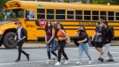 Students arrive at Dartmouth High School in Dartmouth, N.S. on Tuesday, Sept. 8, 2020. THE CANADIAN PRESS/Andrew Vaughan