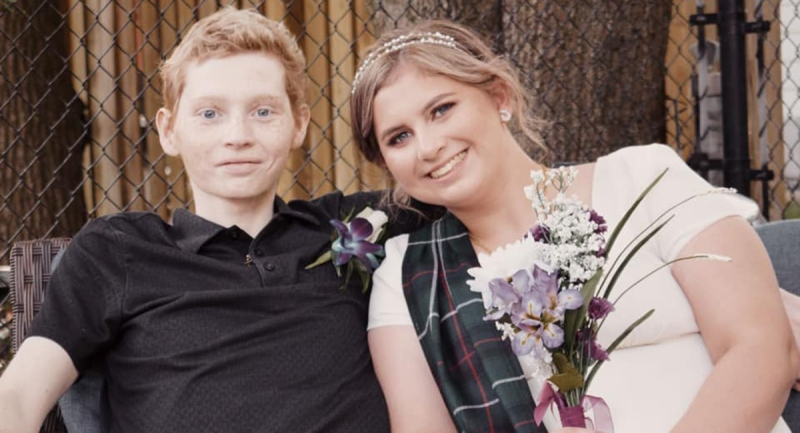 Emily Raes-Caspi and Jace Caspi were married in Aug. 2020 when it became clear Jace wouldn't win his second battle with cancer.