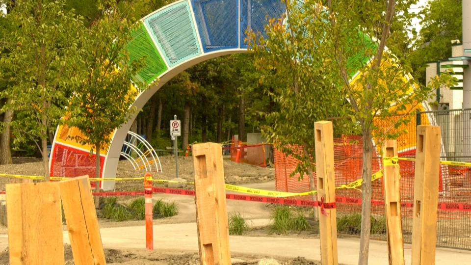 The new Aunt Sally's Farm exhibit is scheduled to open in 2021 (CTV News Photo Glenn Pismenny)