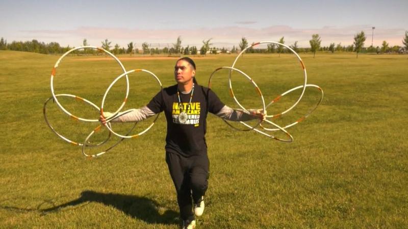 TikTok famous hoop dancer