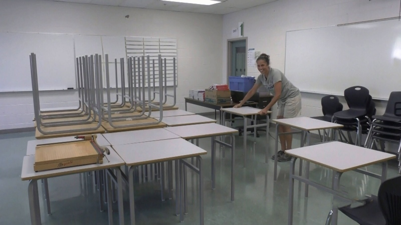 B.C. teachers prepare classrooms
