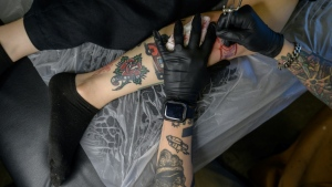While tattooing itself is not illegal in South Korea, it is classed as a medical procedure and may only be carried out by a fully qualified doctor. (Ed Jones / AFP)