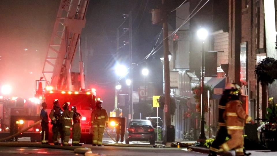 apartment fire in Sackville, N.B.