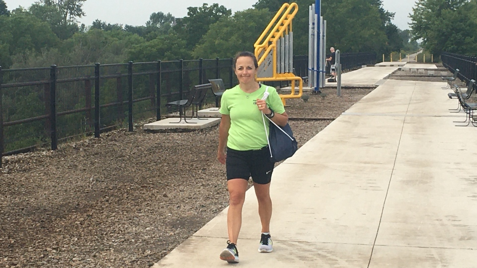 Angie Mailhot walks 12 hours for a good cause