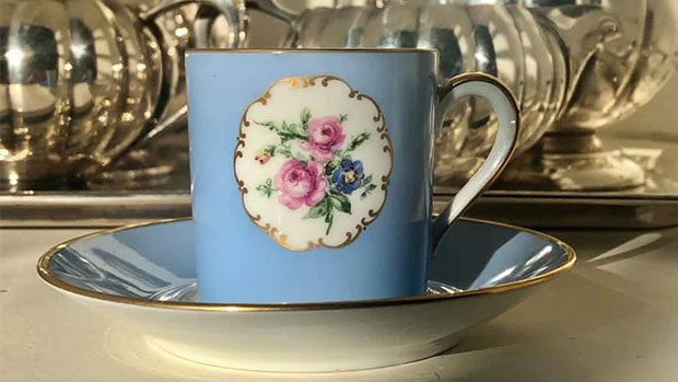 Jassy Boutique & Tearoom showcases antique teacups from around the world. (Source: Jassy Boutique & Tearoom/Facebook)