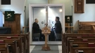 "The ""God Pod"" at St. John Lutheran Church in Ottawa. (Leah Larocque / CTV News Ottawa)"