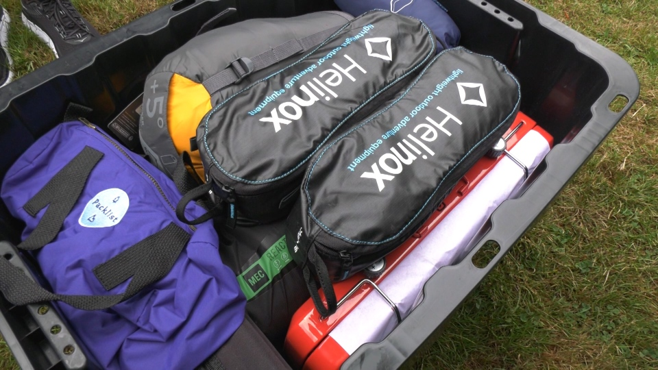 Packlist kits have everything you need to camp.