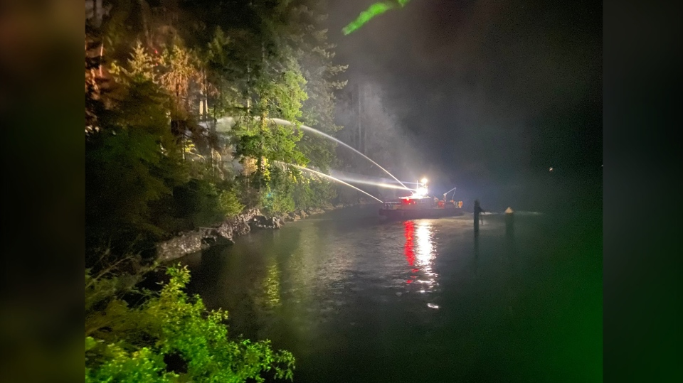Deep Cove fire