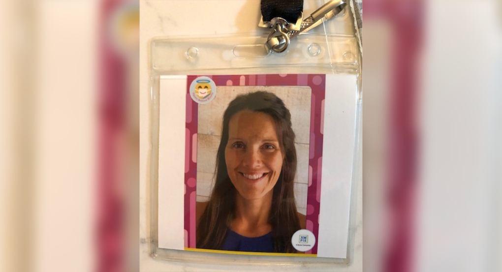 Grade 3 teacher Mrs. Paula Roskamps photo lanyard