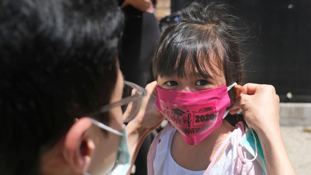 school, children, covid, mask