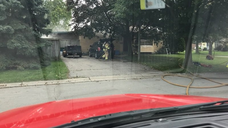 Firefighters were called to a residence on Hines Crescent on Wednesday, Sept. 10, 2020. (Source: London Fire Department)