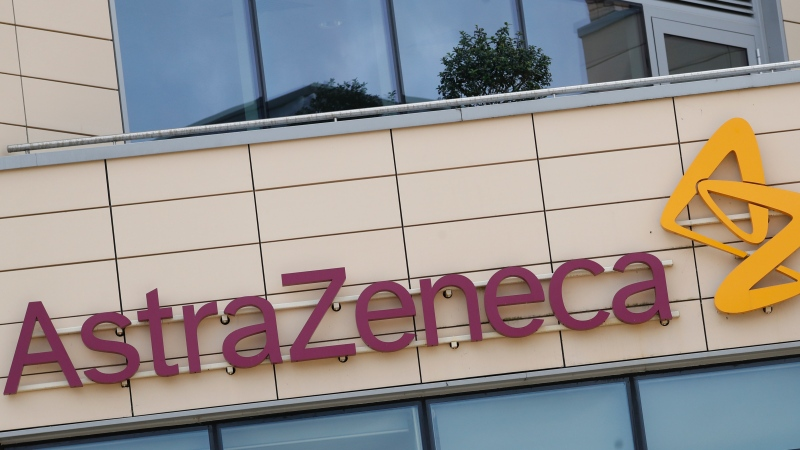 This July 18, 2020, file photo, shows the AstraZeneca offices in Cambridge, England. (AP Photo/Alastair Grant, File)