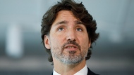 Prime Minister Justin Trudeau speaks during a press conference as he unveils plans for greater support for Black businesses, at HXOUSE in Toronto, Wednesday, Sept. 9, 2020. THE CANADIAN PRESS/Cole Burston
