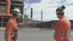 Two new shorter stacks built for Vale in Sudbury. Sept. 10/20 (Molly Frommer/CTV Northern Ontario)