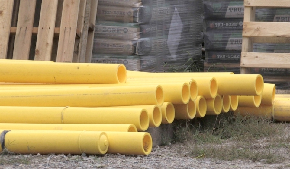 Construction of a $10 million underground natural gas pipeline is underway, with the province chipping in $9 million in funding. (File)