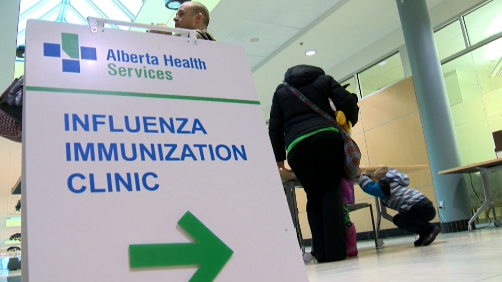 Alberta flu shot vaccination