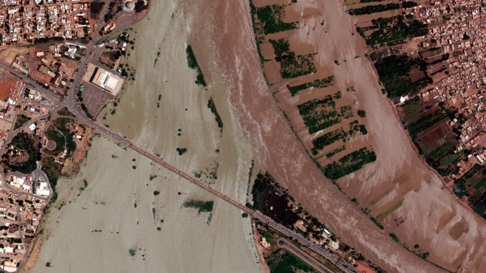 During the flooding near Khartoum, Sudan