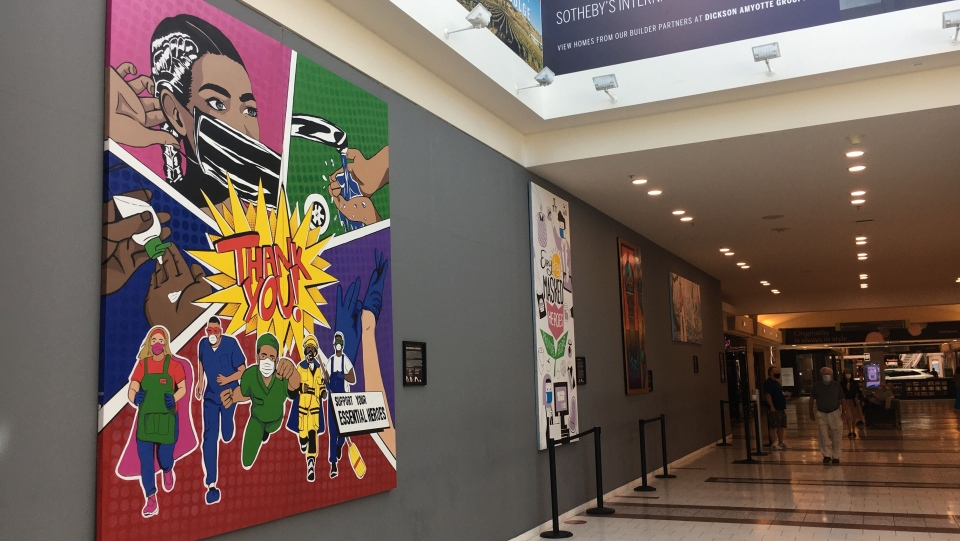 pandemic art at Southgate Centre