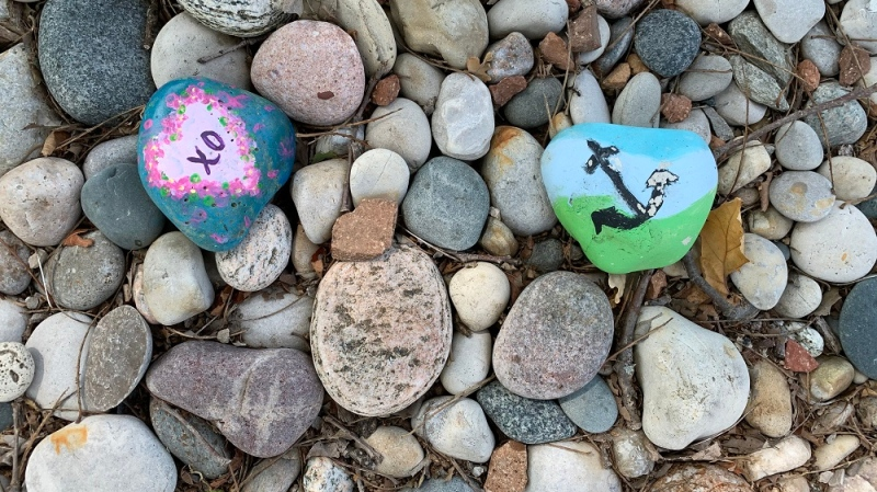 Ontario Parks is asking people not to leave painted rocks at their provincial parks. (Ontario Parks)