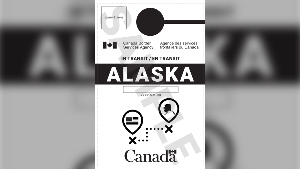 Since July 31, Americans entering Canada with the stated intention of driving to Alaska have been given a placard to hang from the rear-view mirror of their vehicle.