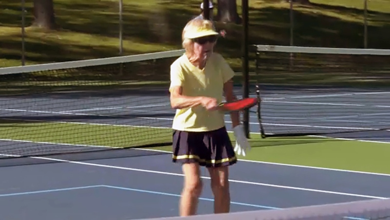 She's 90, she plays pickleball and she's our Athlete of the Week. Glenn Campbell reports