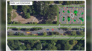 The layout of Le Jardin du Petit Monde a Bicyclette in La Fontaine park / Photo provided by the City of Montreal.