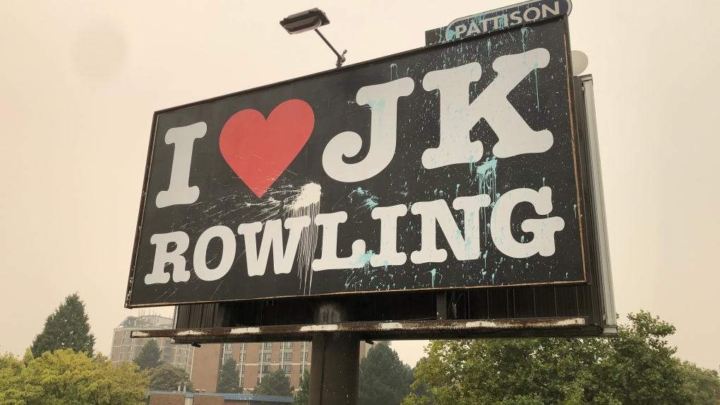 JK Rowling billboard