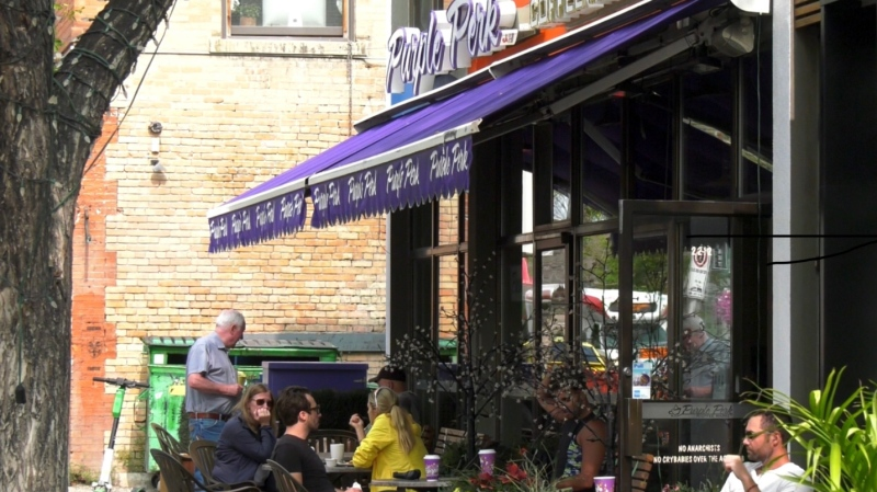 The Purple Perk Cafe in Calgary.