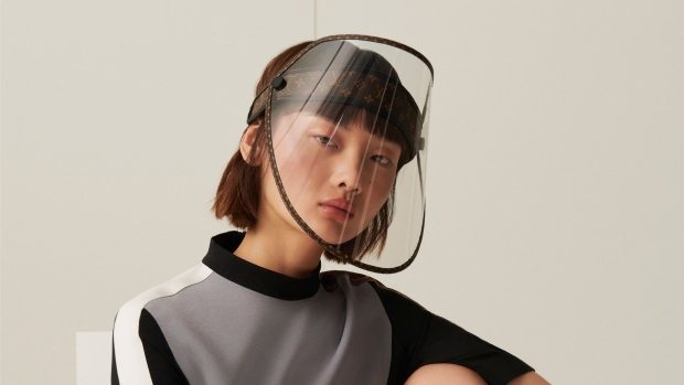 Louis Vuitton is releasing a face shield with golden studs to protect... image