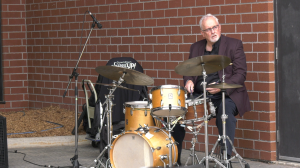 """To kick off the first ever """"Downtown Sudbury Jazzed Up"""" three local bands and three local artists headlined the day. Sept.13/20 (Jaime McKee/CTV News Northern Ontario)"""